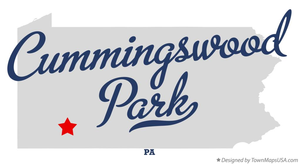 Map of Cummingswood Park Pennsylvania PA