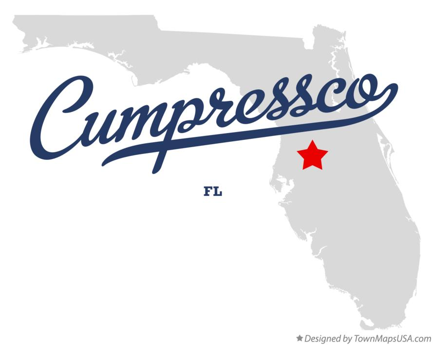 Map of Cumpressco Florida FL