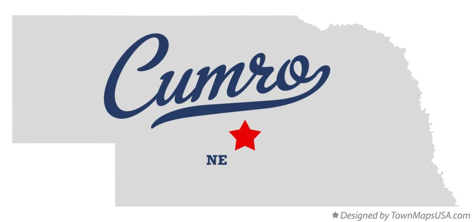 Map of Cumro Nebraska NE