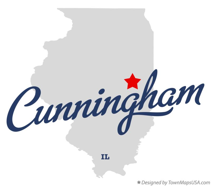 Map of Cunningham Illinois IL