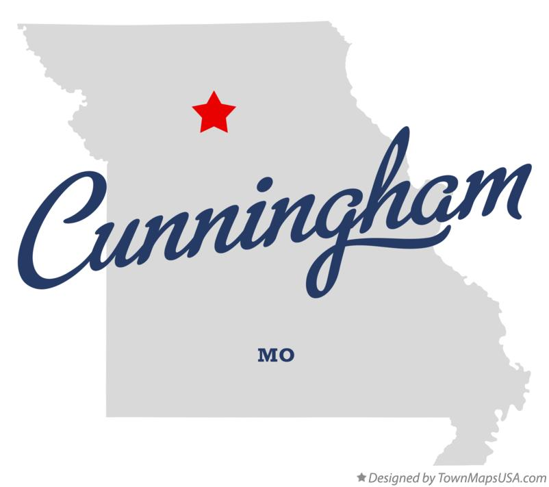Map of Cunningham Missouri MO