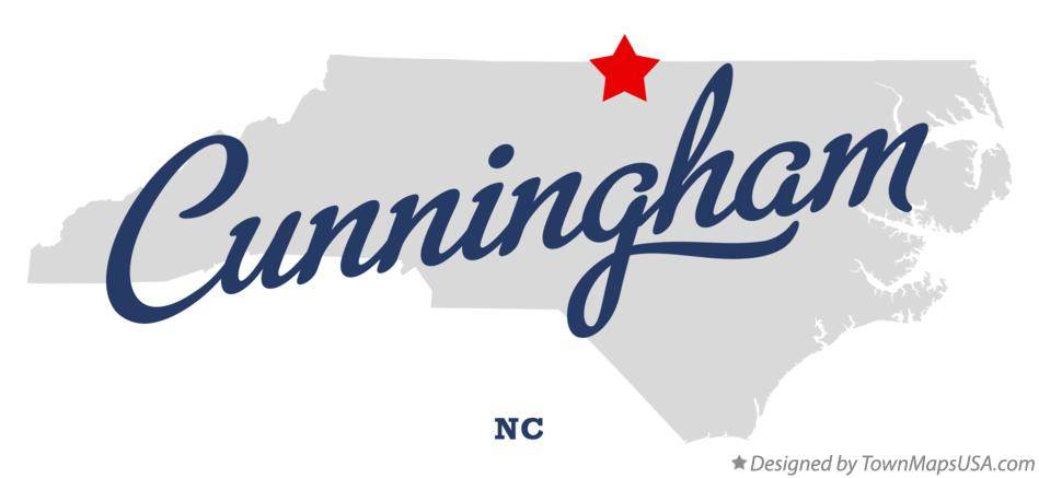 Map of Cunningham North Carolina NC