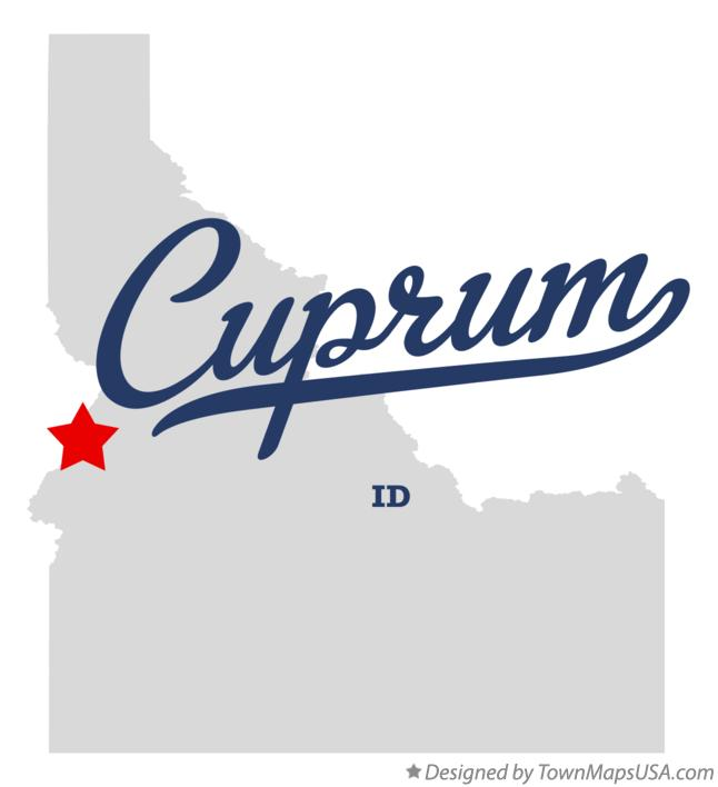 Map of Cuprum Idaho ID