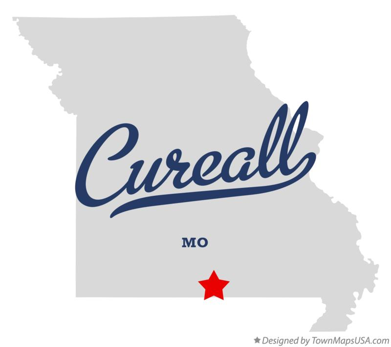 Map of Cureall Missouri MO