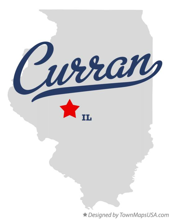 Map of Curran Illinois IL