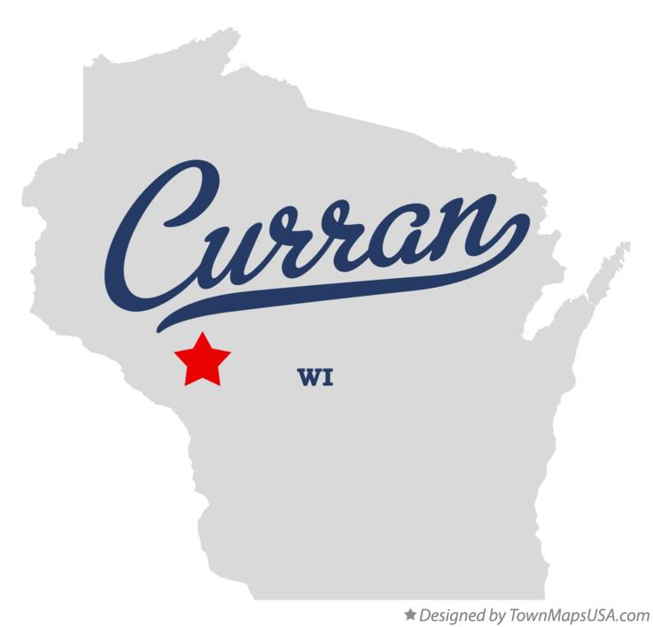 Map of Curran Wisconsin WI