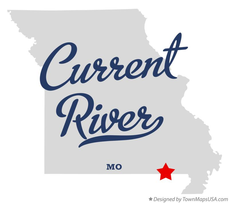Map of Current River Missouri MO