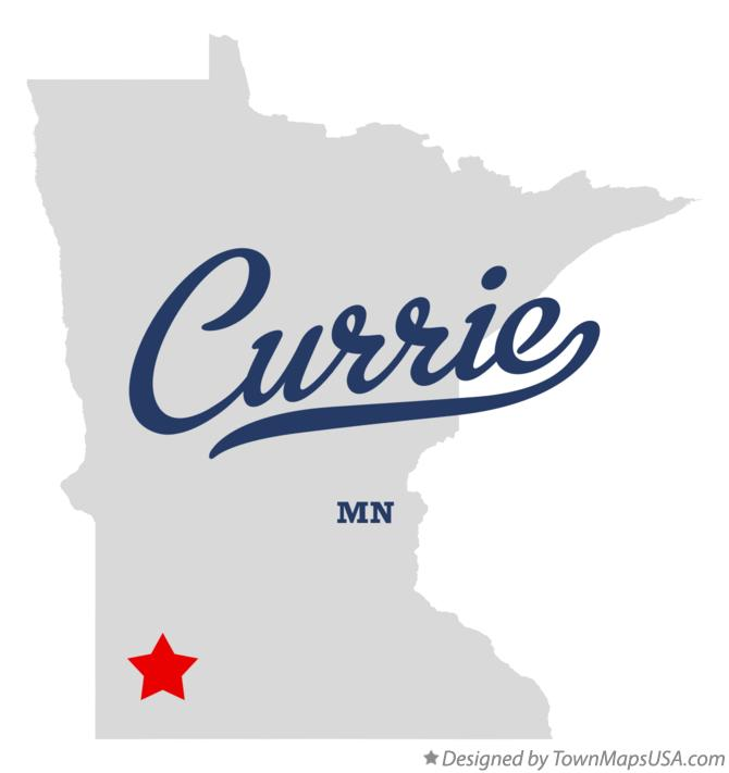 Map of Currie Minnesota MN