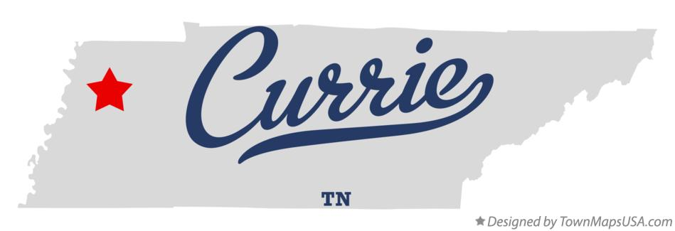 Map of Currie Tennessee TN