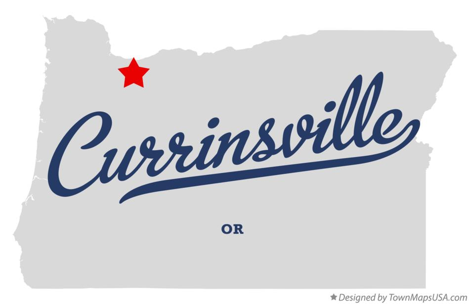 Map of Currinsville Oregon OR