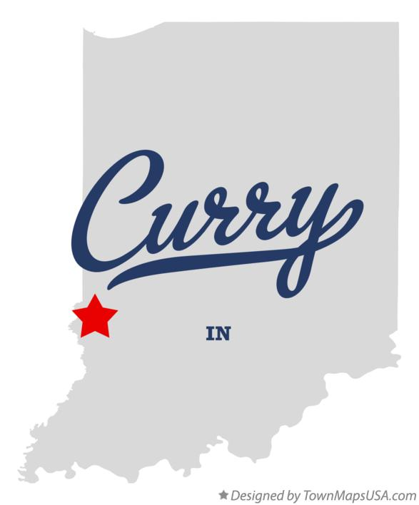 Map of Curry Indiana IN