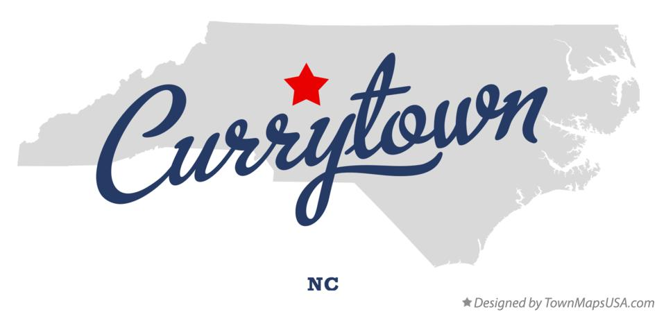 Map of Currytown North Carolina NC