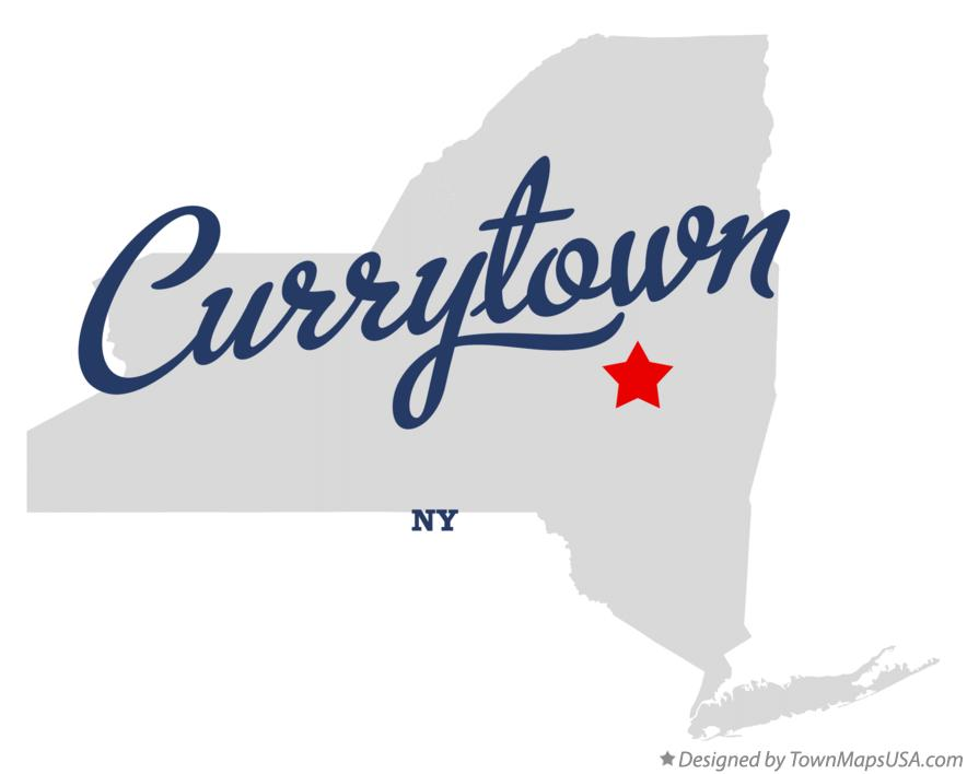 Map of Currytown New York NY