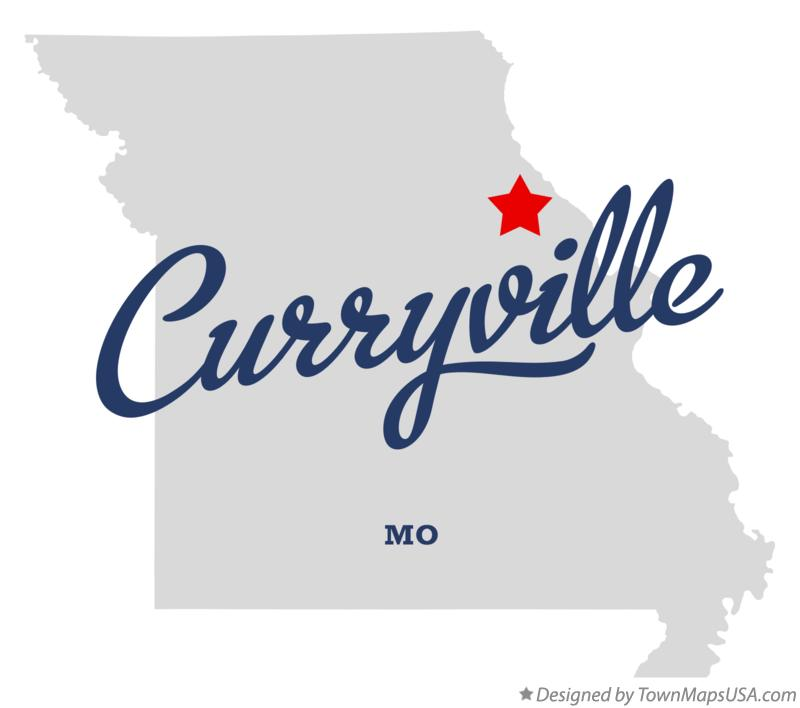 Map of Curryville Missouri MO