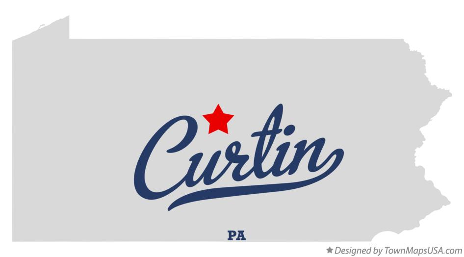 Map of Curtin Pennsylvania PA