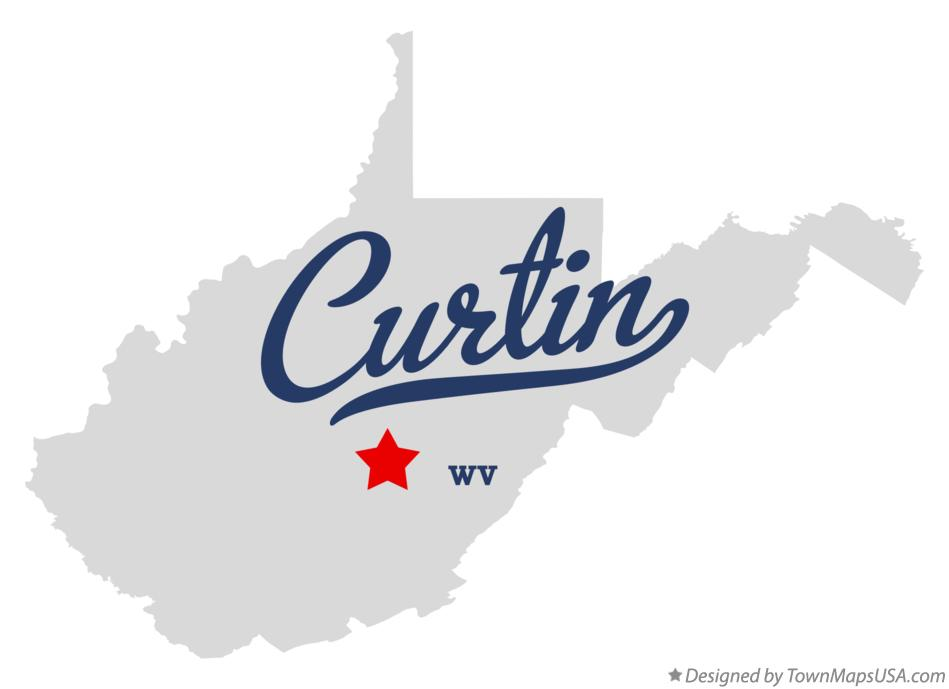 Map of Curtin West Virginia WV