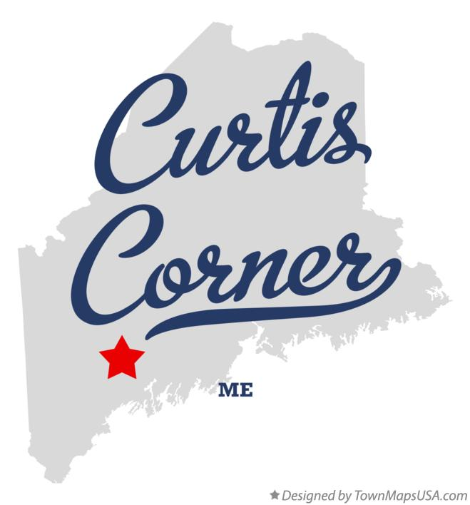 Map of Curtis Corner Maine ME