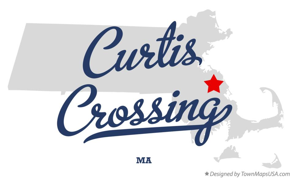 Map of Curtis Crossing Massachusetts MA