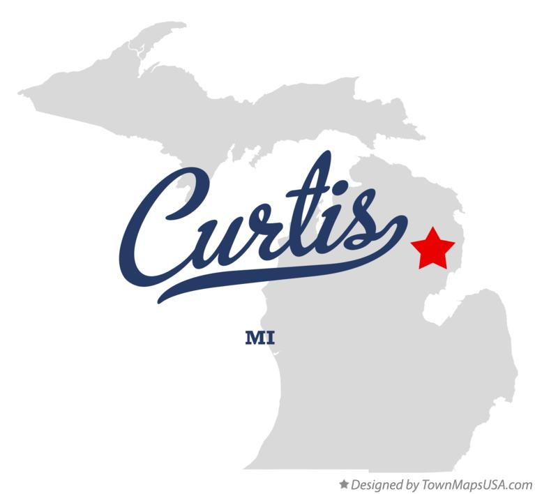 Map of Curtis Michigan MI