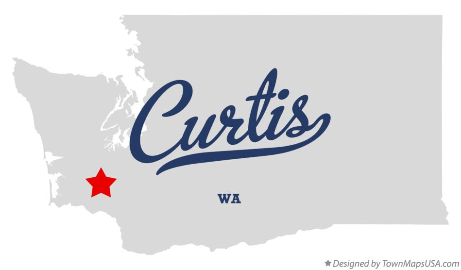 Map of Curtis Washington WA