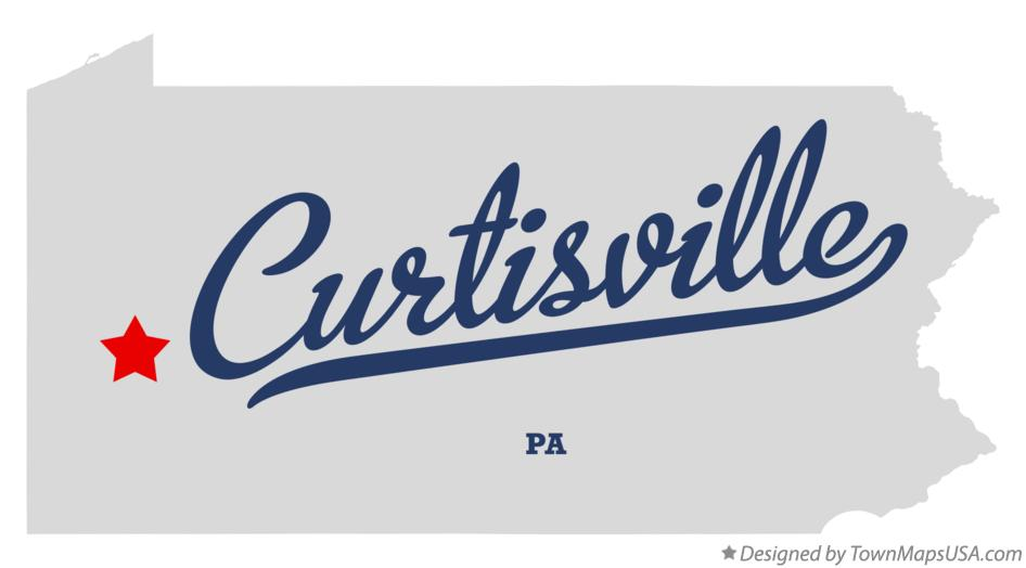 Map of Curtisville Pennsylvania PA