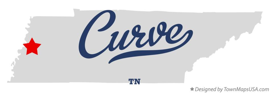 Map of Curve Tennessee TN