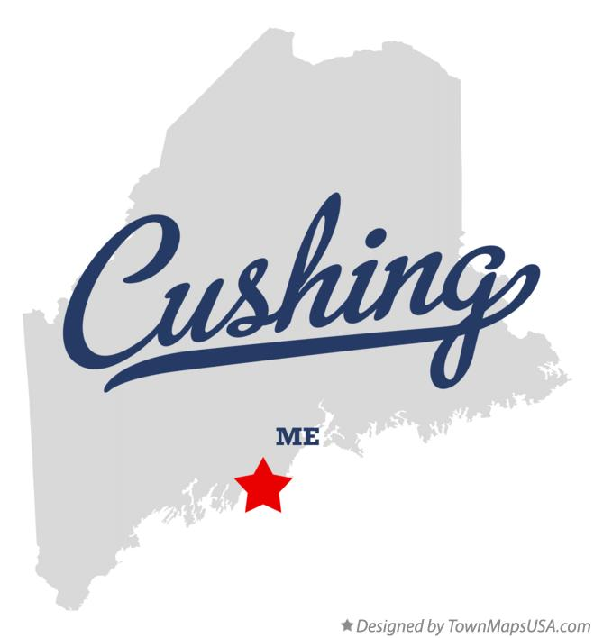 Map of Cushing Maine ME