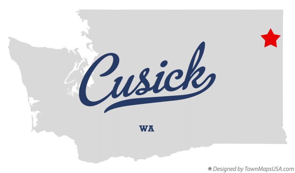 Map of Cusick Washington WA