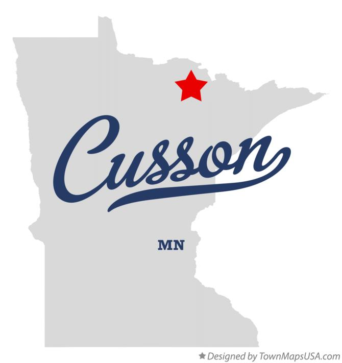 Map of Cusson Minnesota MN