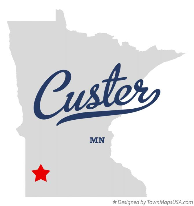 Map of Custer Minnesota MN