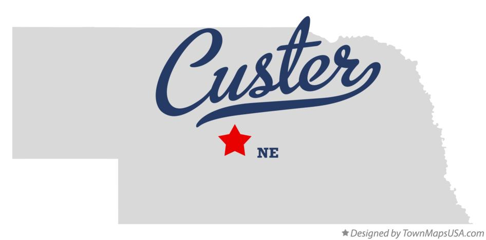 Map of Custer Nebraska NE