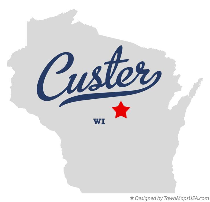 Map of Custer Wisconsin WI