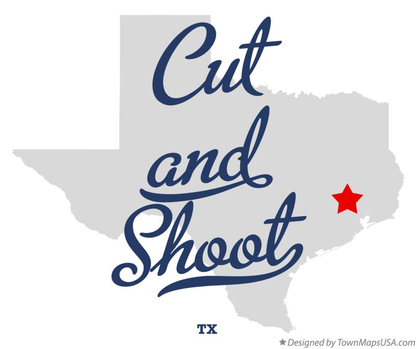 Map of Cut and Shoot Texas TX