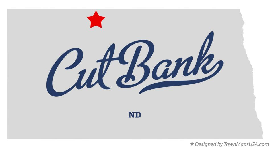 Map of Cut Bank North Dakota ND