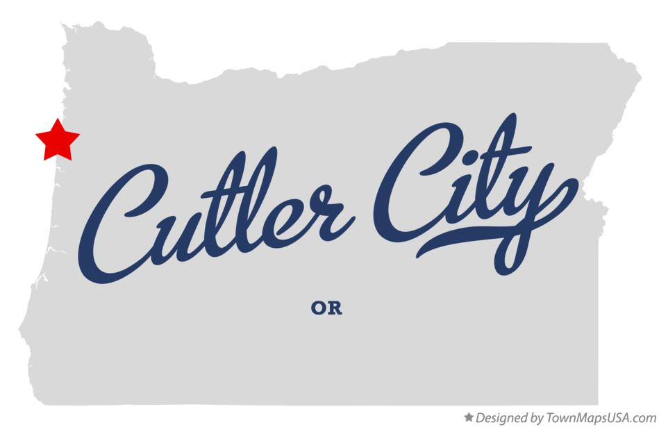 Map of Cutler City Oregon OR