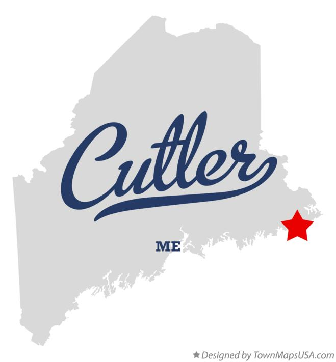 Map of Cutler Maine ME
