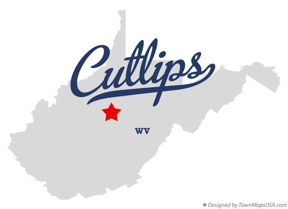 Map of Cutlips West Virginia WV