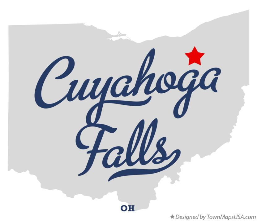 Map Of Cuyahoga Falls Oh Ohio