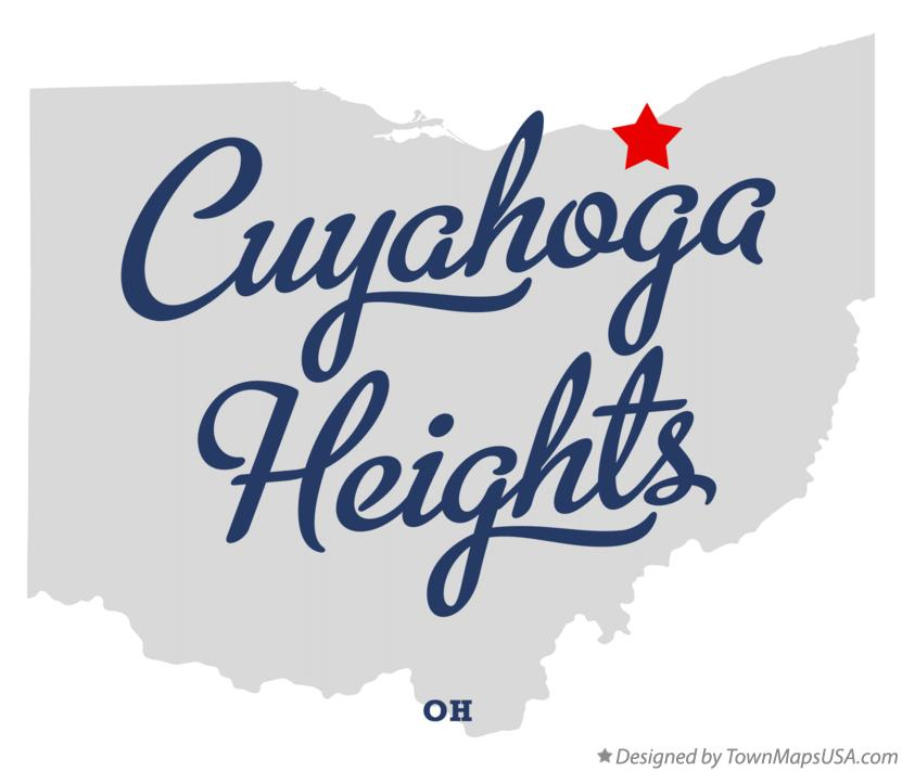Map of Cuyahoga Heights Ohio OH
