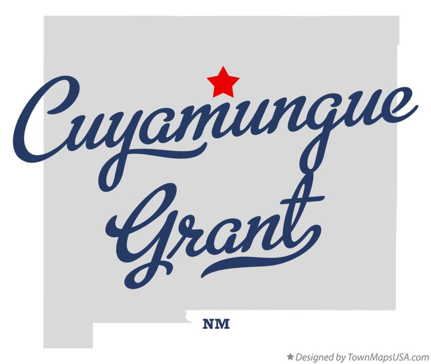 Map of Cuyamungue Grant New Mexico NM