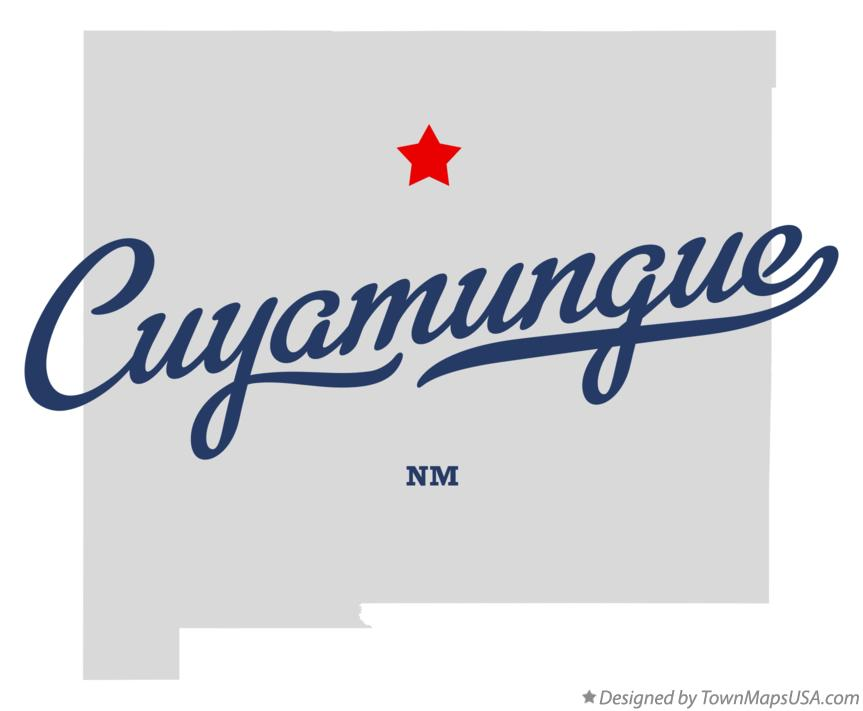 Map of Cuyamungue New Mexico NM