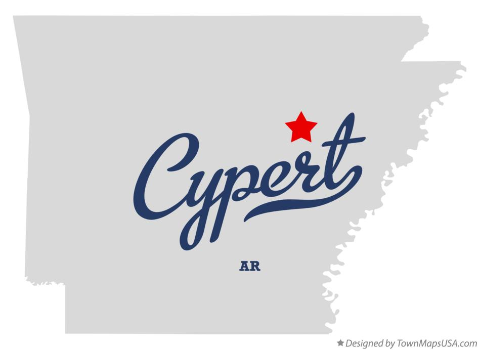 Map of Cypert Arkansas AR