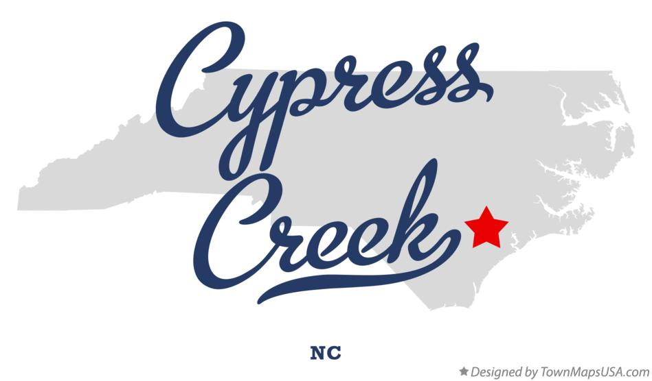 Map of Cypress Creek North Carolina NC