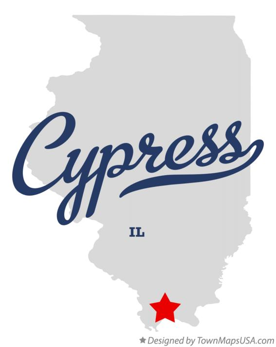 Map of Cypress Illinois IL