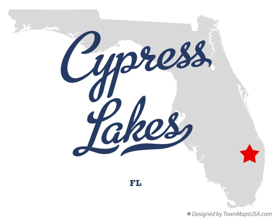 Map of Cypress Lakes Florida FL
