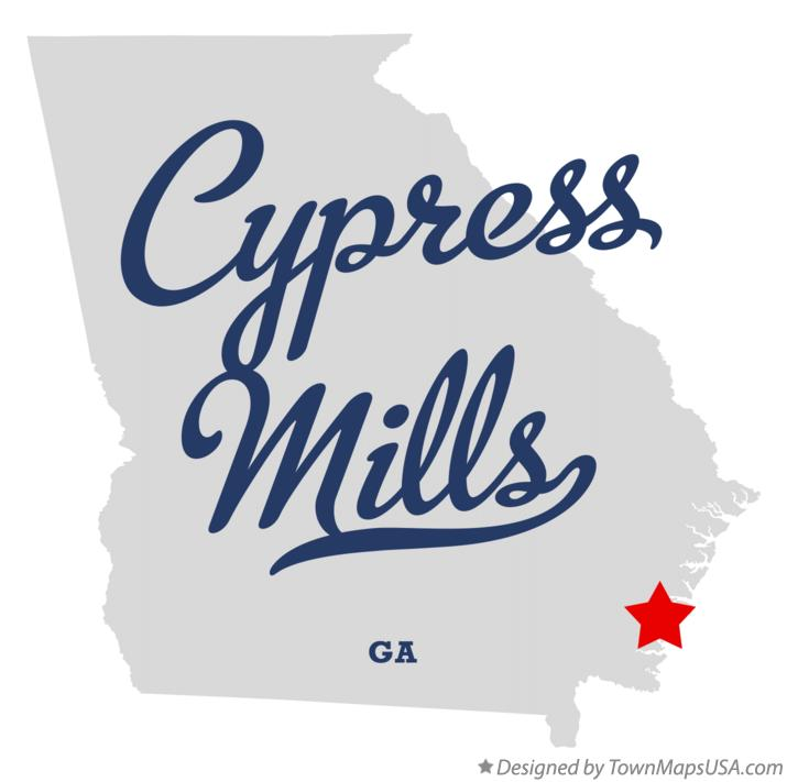 Map of Cypress Mills Georgia GA