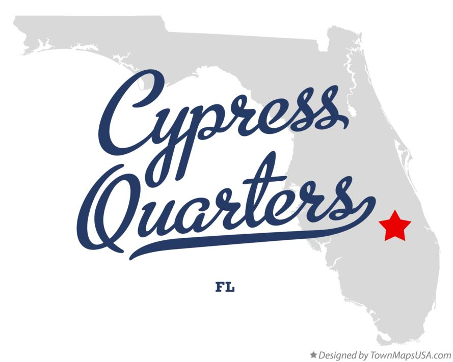 Map of Cypress Quarters Florida FL