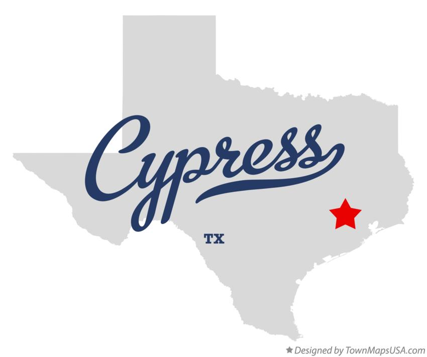 Map of Cypress Texas TX