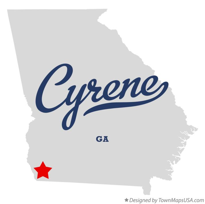 Map of Cyrene Georgia GA