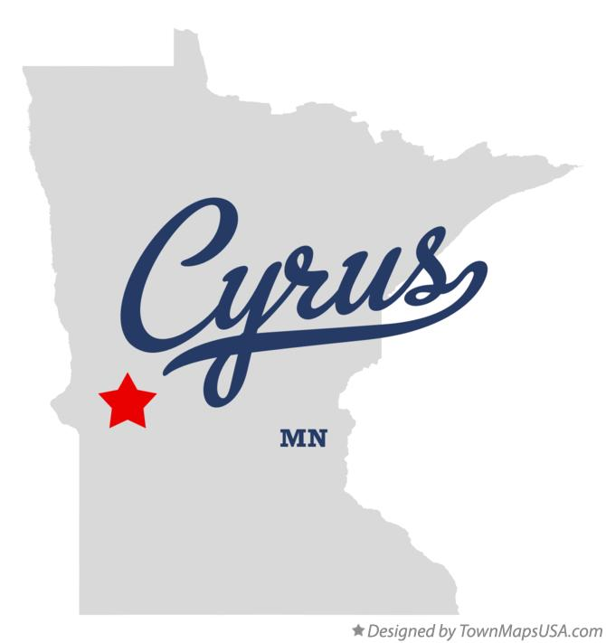 Map of Cyrus Minnesota MN